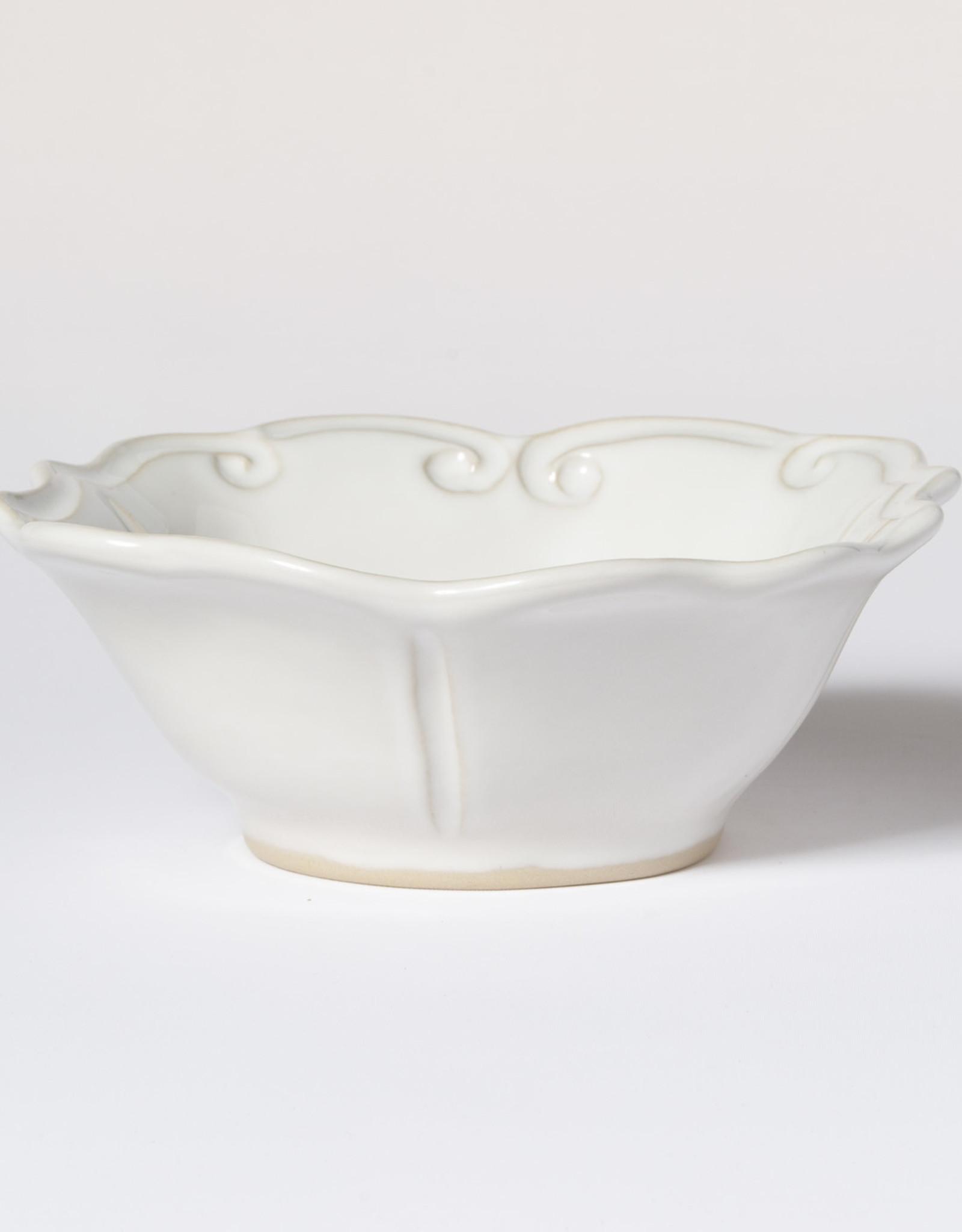 Vietri Incanto Stoneware White Baroque Cereal Bowl