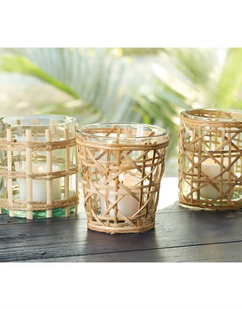 Mudpie Rattan Votive Holder