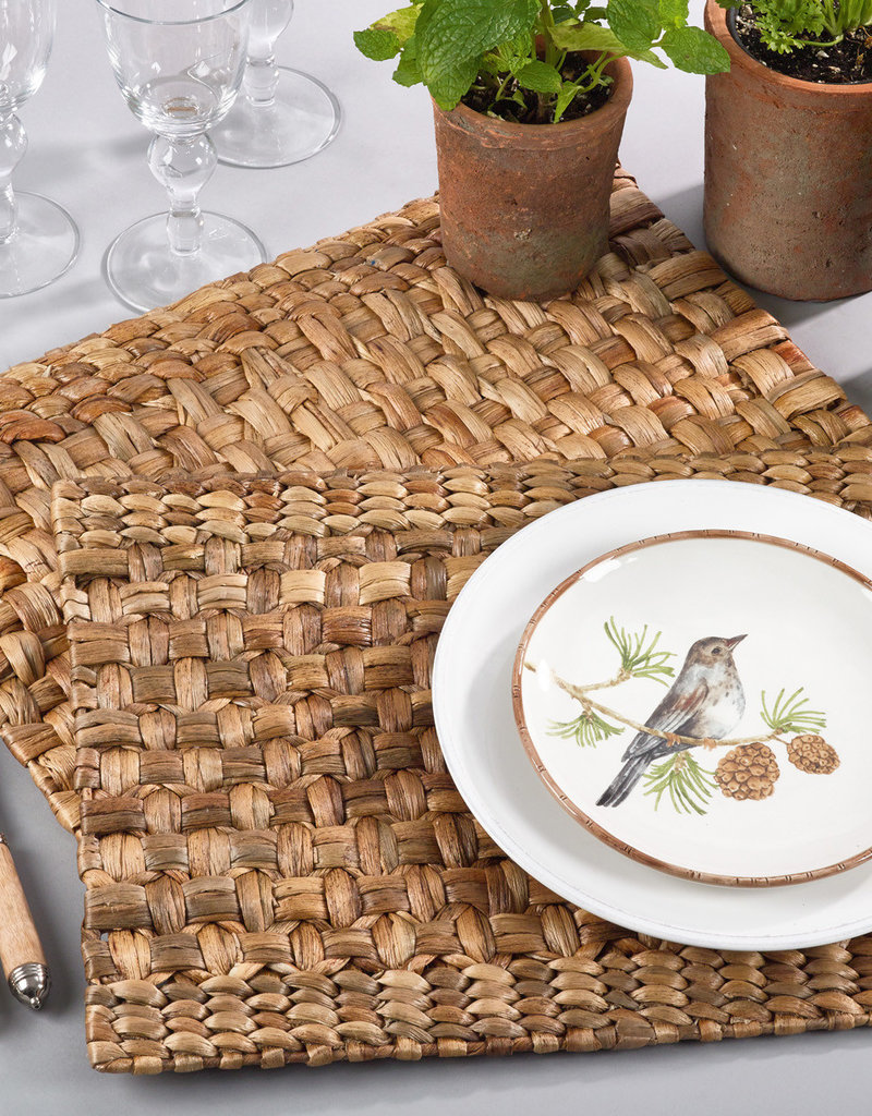 Saro Woven Water Hyacinth Placemat Set of 4