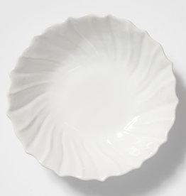 Vietri Incanto Stoneware Large White Ruffle Serving Bowl