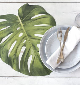 Hester & Cook Die Cut Monstera Leaf Placemats 12 Pack