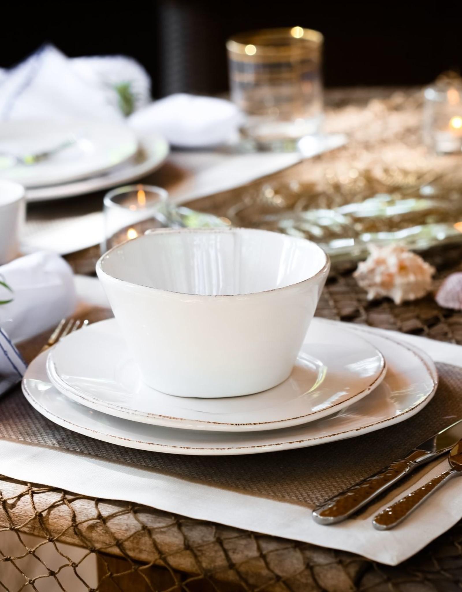 Vietri Lastra Salad Plate White