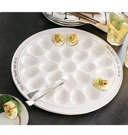 Mudpie Round Devil Egg Platter