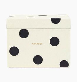 Kate Spade NY Deco Dot Recipe Box