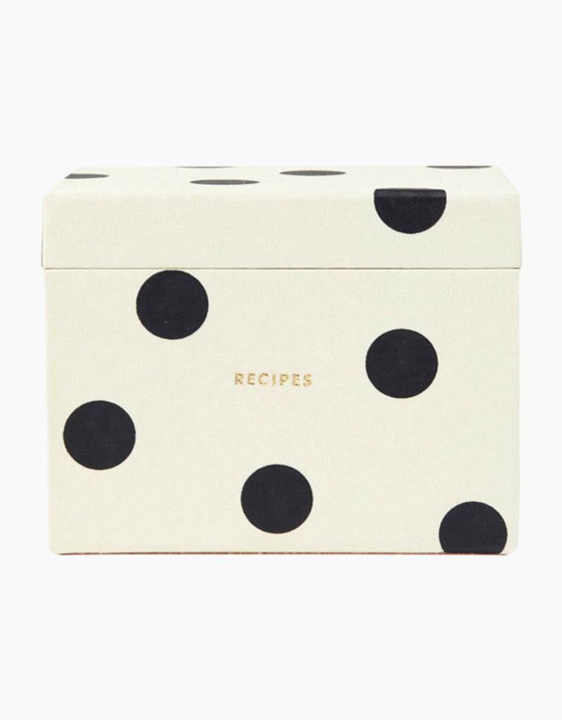 Kate Spade NY Deco Dot Recipe Box