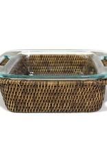 Matahari Square Woven Bakeware Tray with Pyrex