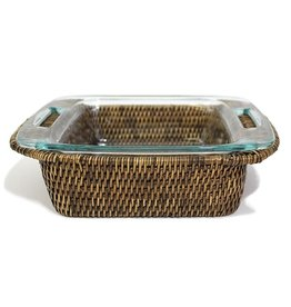 Matahari Square Woven Bakeware Tray with Pyrex