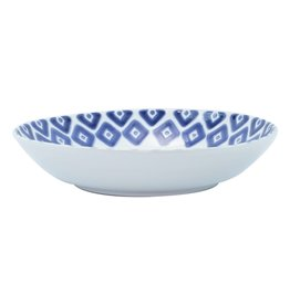 Vietri Santorini Blue and White Medium Serving Bowl Diamond
