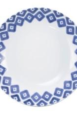 Vietri Santorini Blue and White Medium Serving Bowl Diamond