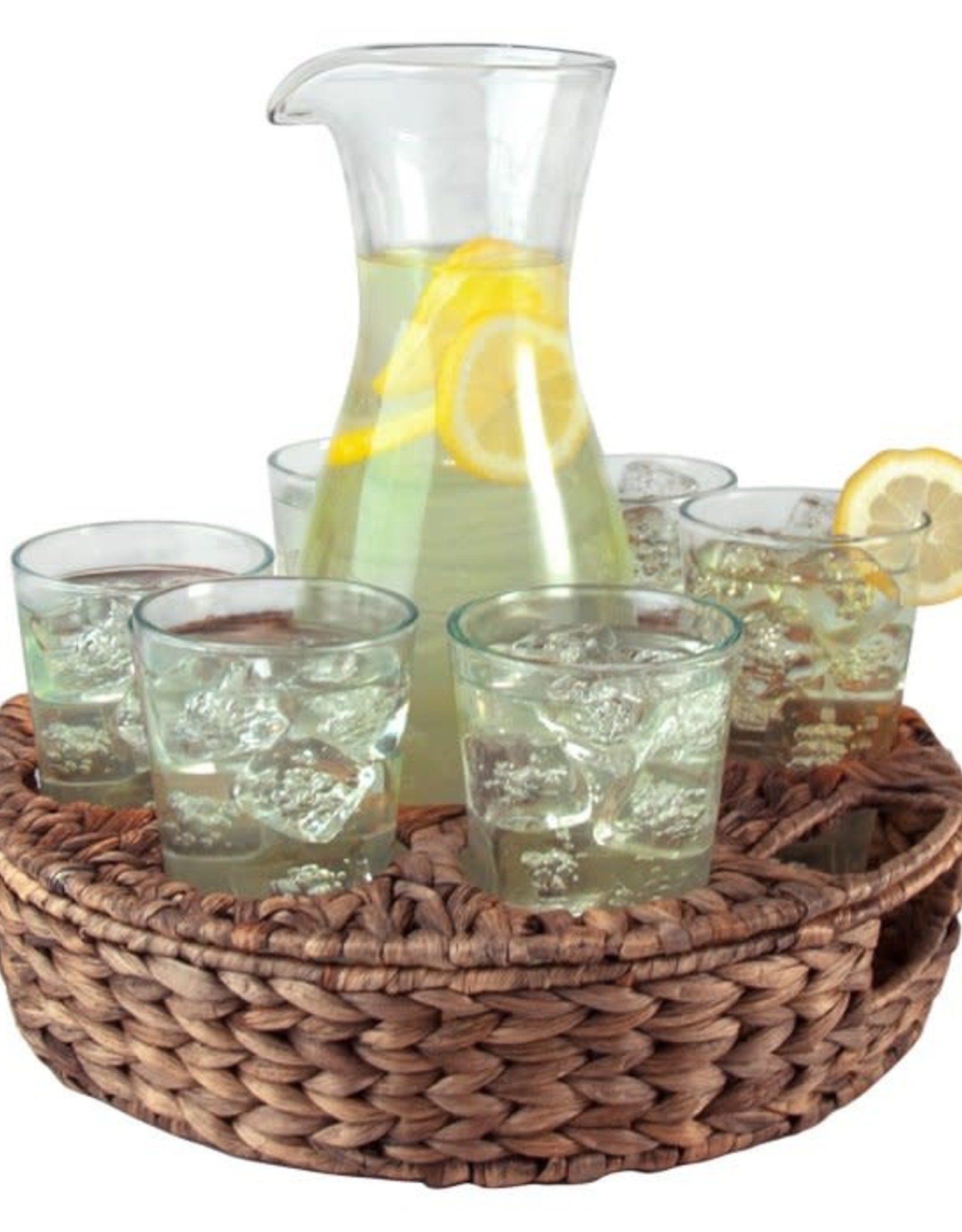 Artland Terrace Seagrass Carafe Set with 6 Glasses