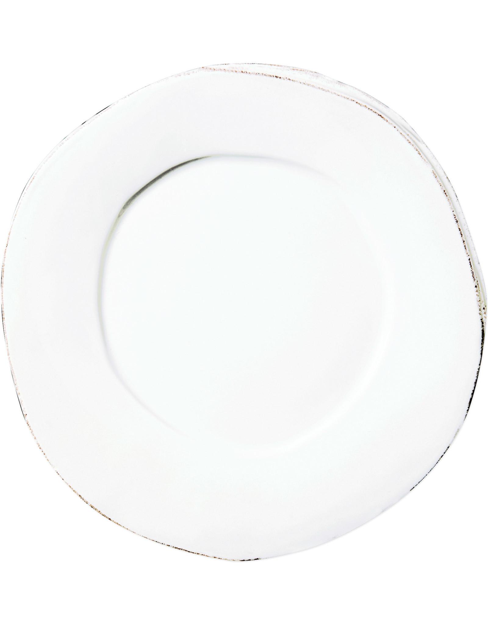 Vietri Lastra European Dinner Plate White