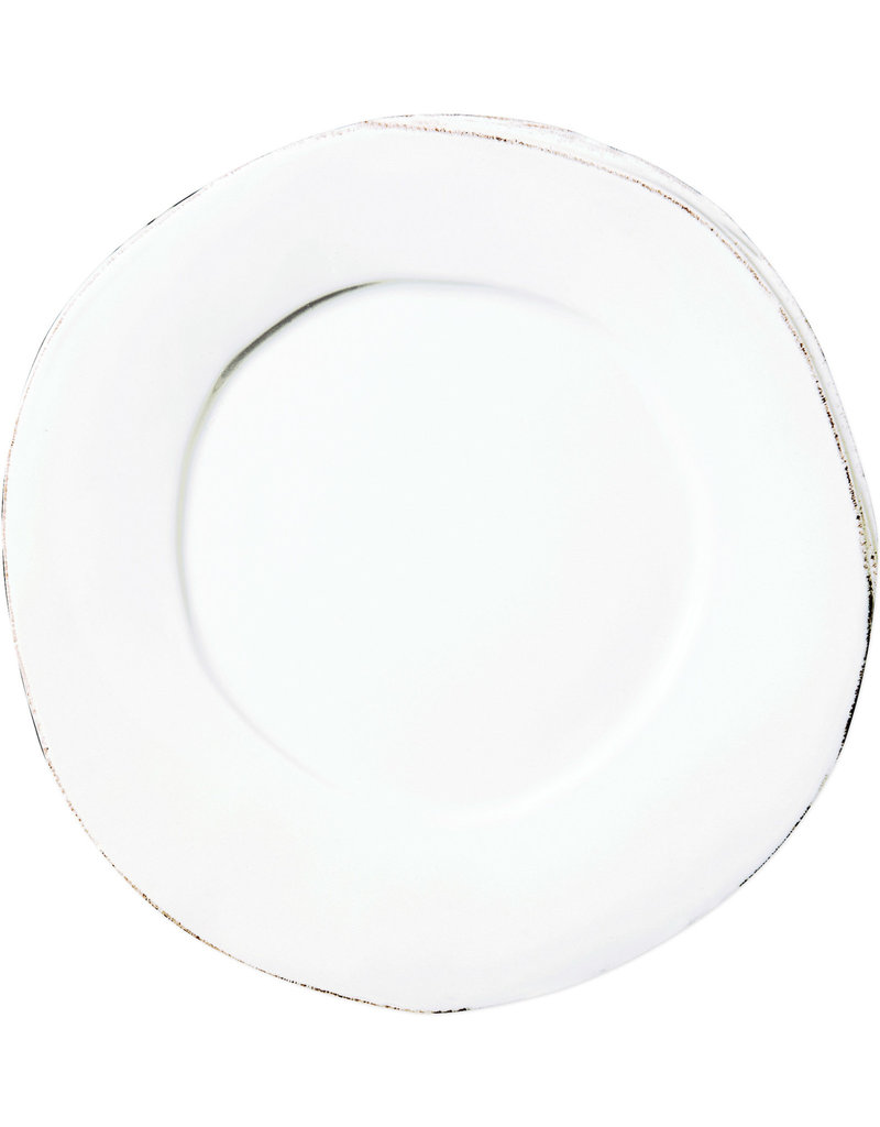 Vietri Lastra European Dinner Plate White