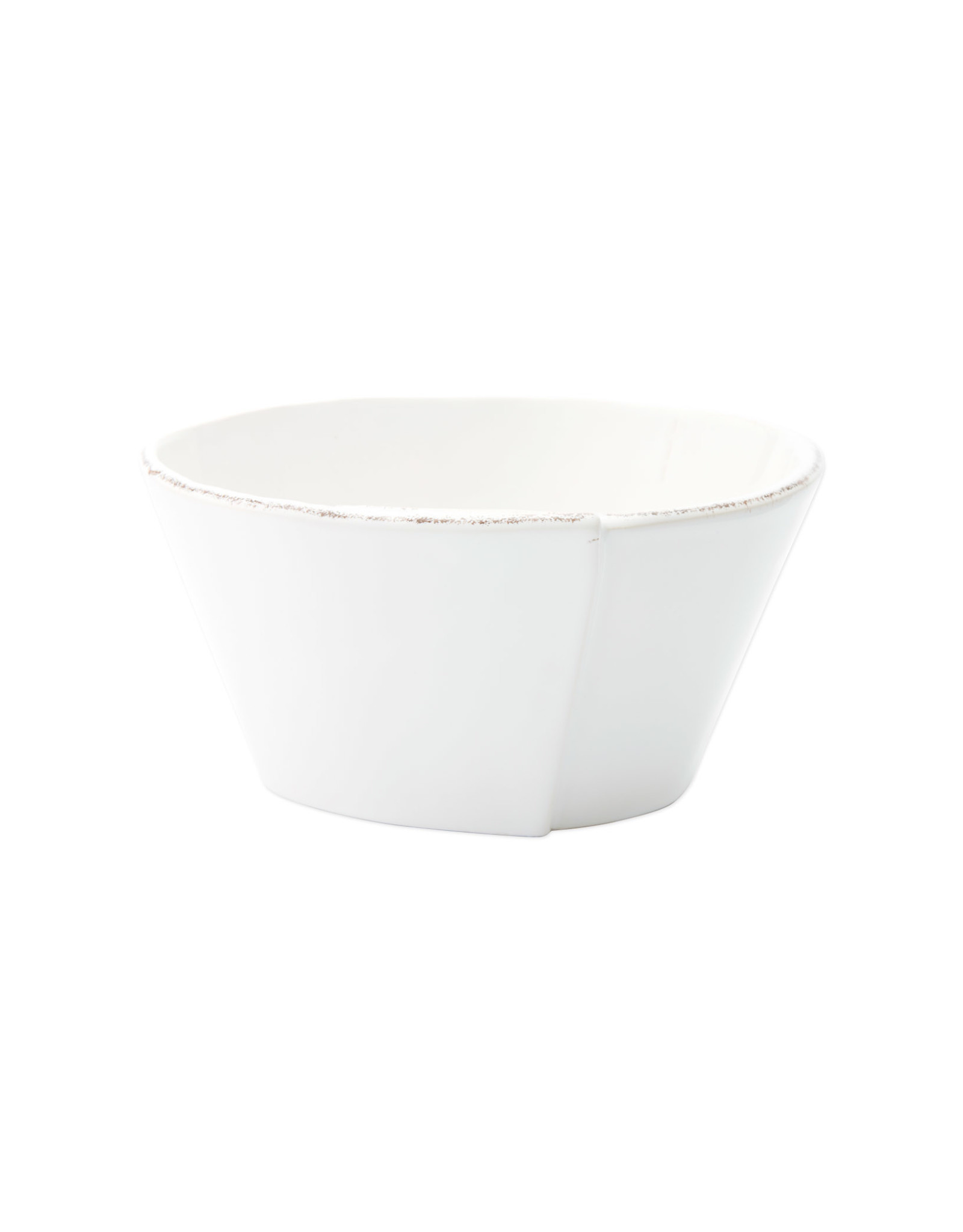 Vietri Lastra Stacking Cereal Bowl White
