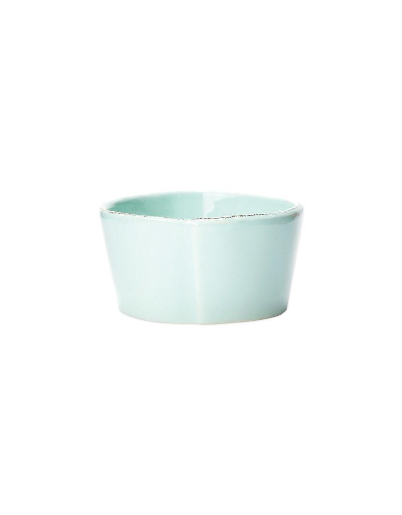 Vietri Lastra Condiment Bowl Aqua