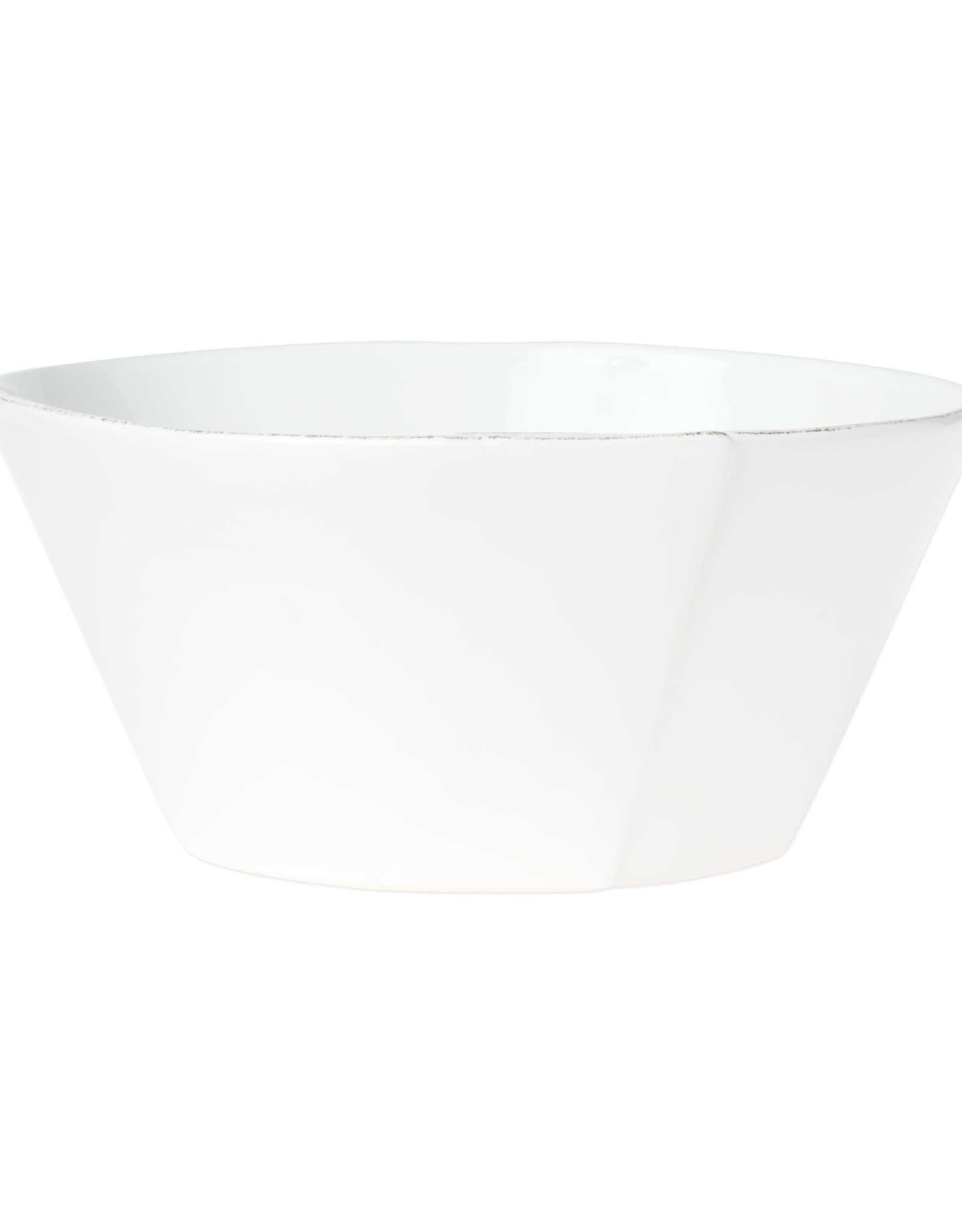 Vietri Lastra Large Stacking Serving Bowl White