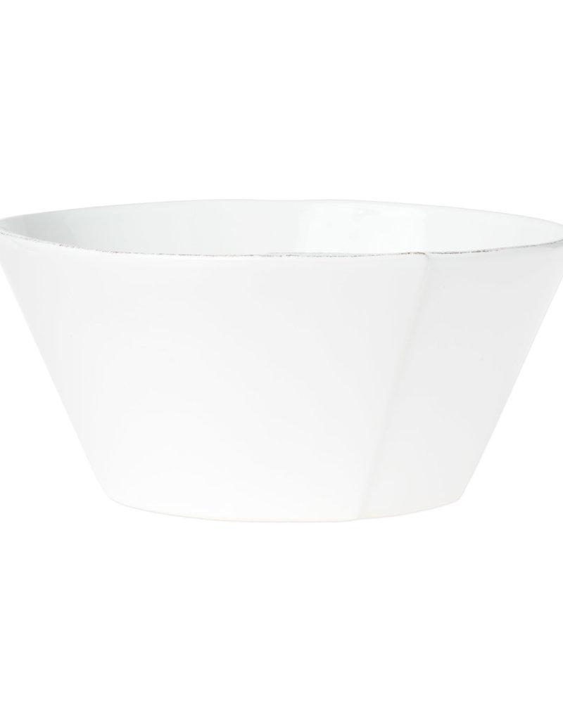 Vietri Lastra Large Stacking Serving Bowl White