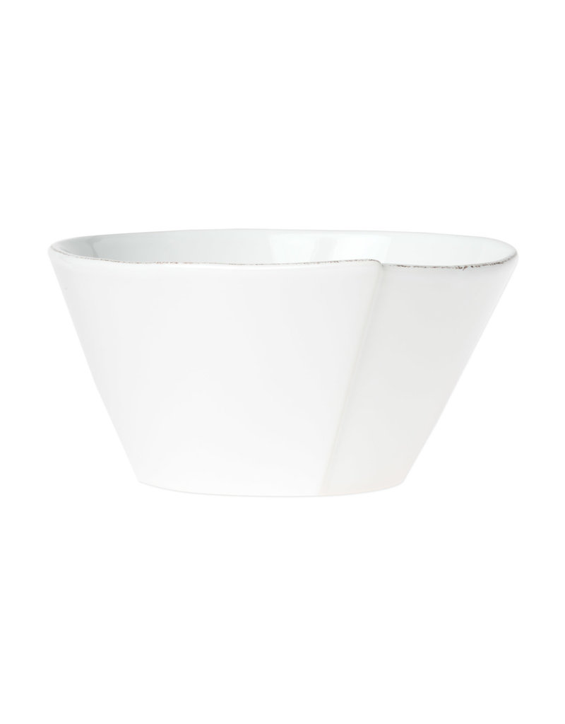 Vietri Lastra Medium Stacking Serving Bowl White