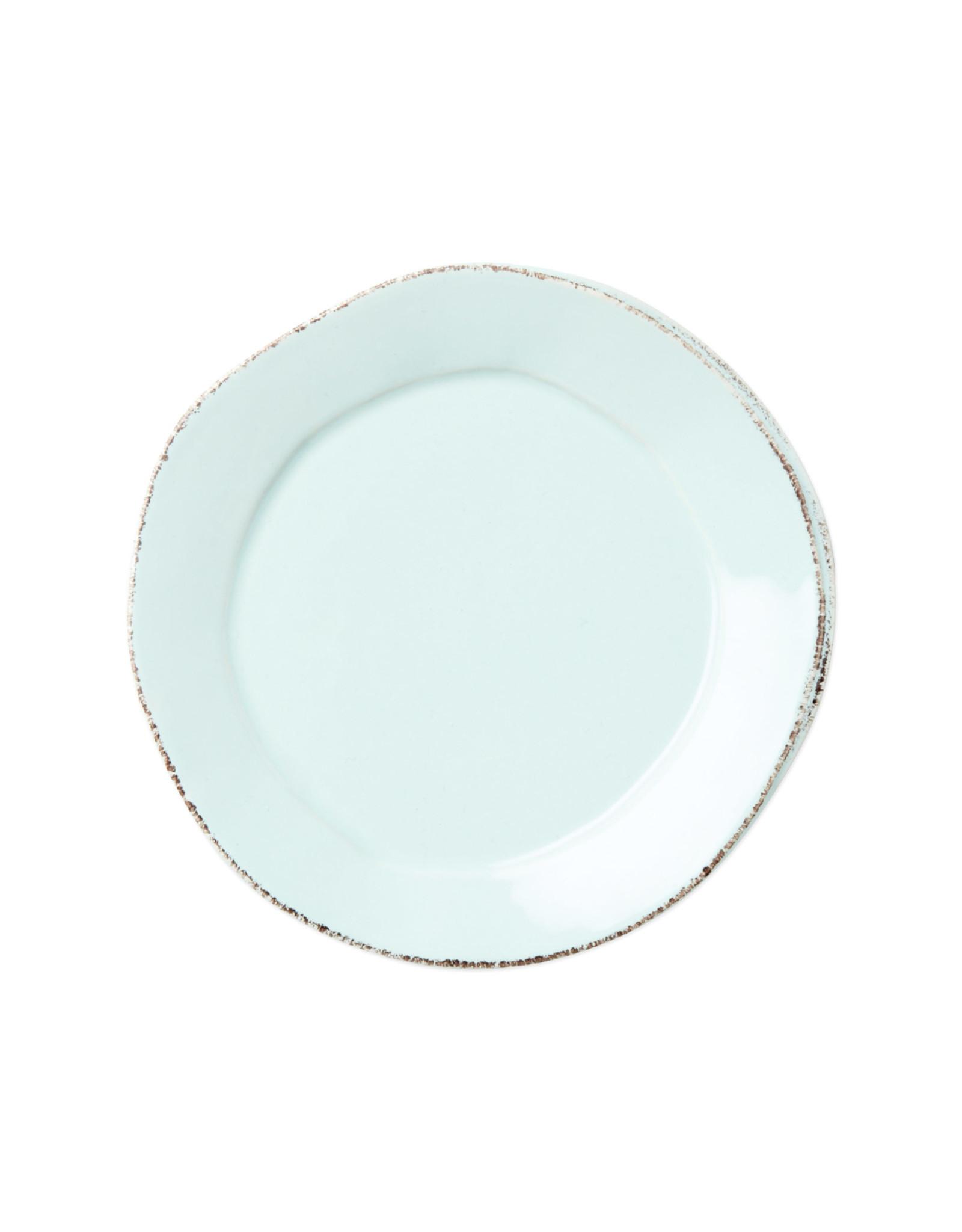 Vietri Lastra Canape Plate Aqua