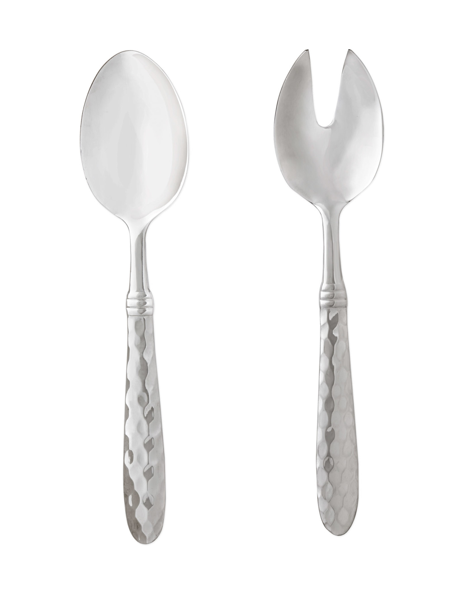 Vietri Martellato Hammered Salad Server Set