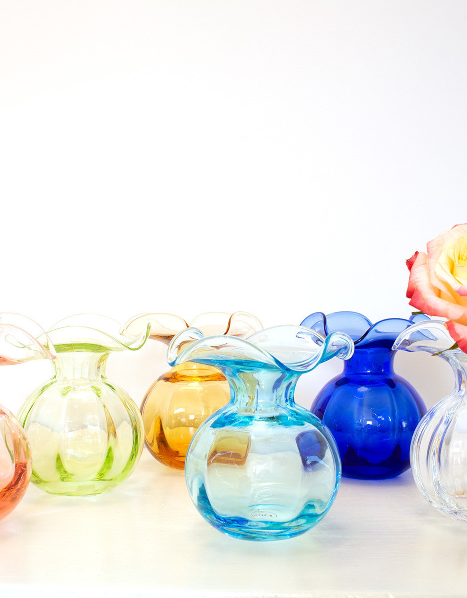 Vietri Hibiscus Colored Glass Bud Vase