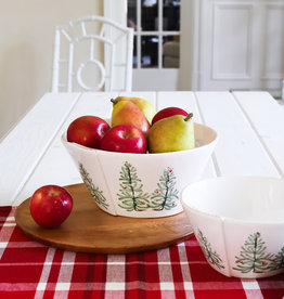 Vietri Lastra Holiday Large Stacking Serving Bowl