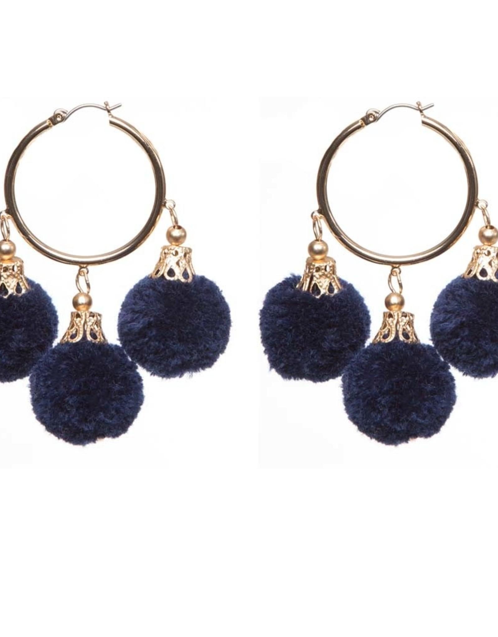 Fornash Fiesta Pom Pom Earrings