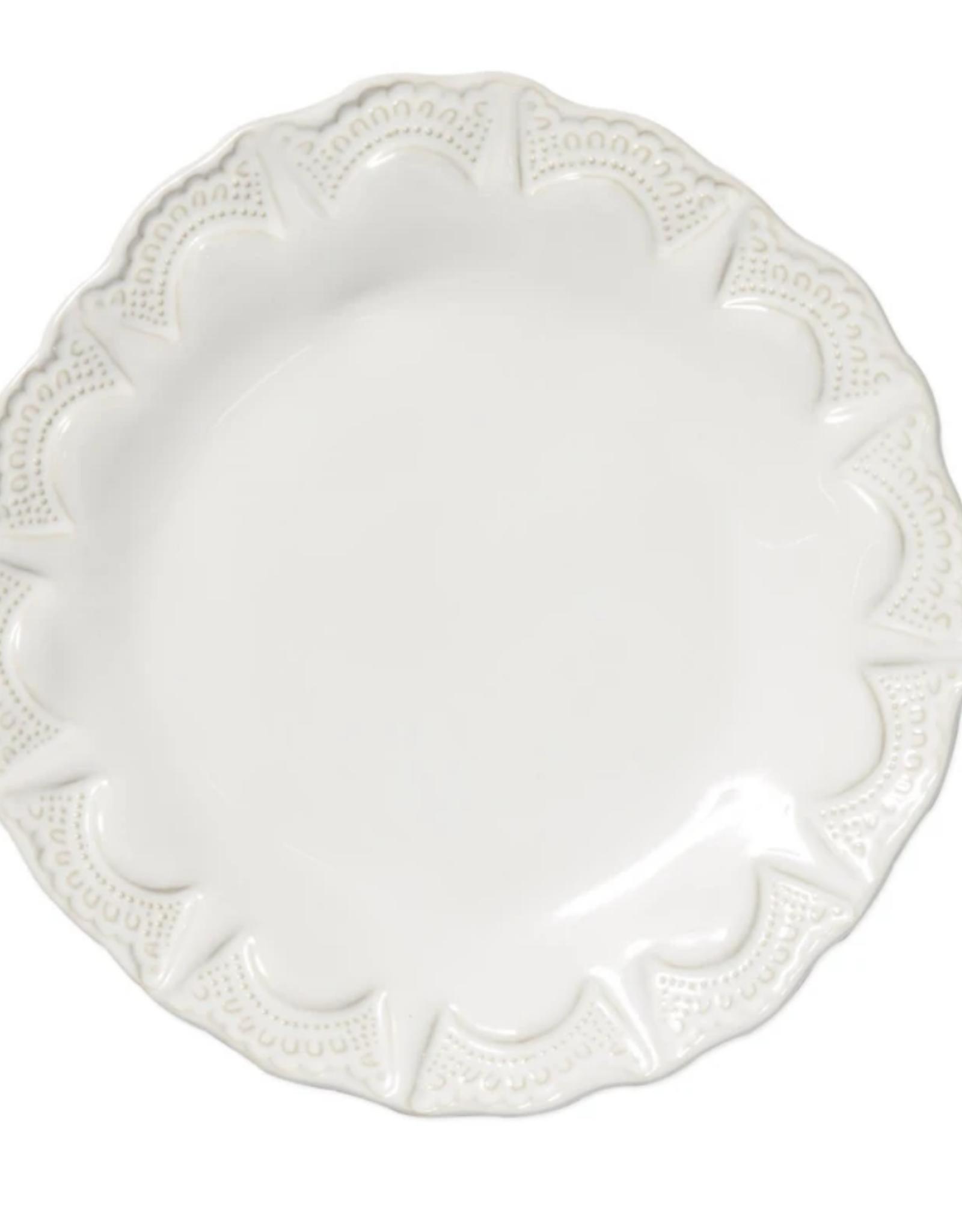 Vietri Incanto Stoneware White Lace Salad Plate