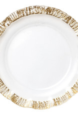Vietri Rufolo Glass Gold Service Plate/Charger