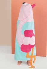 Mudpie Flamingo Hooded Towel