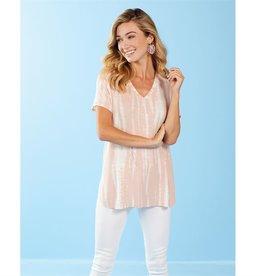 Mudpie Dani Tee Shirt in Blush Pink Tie Dye