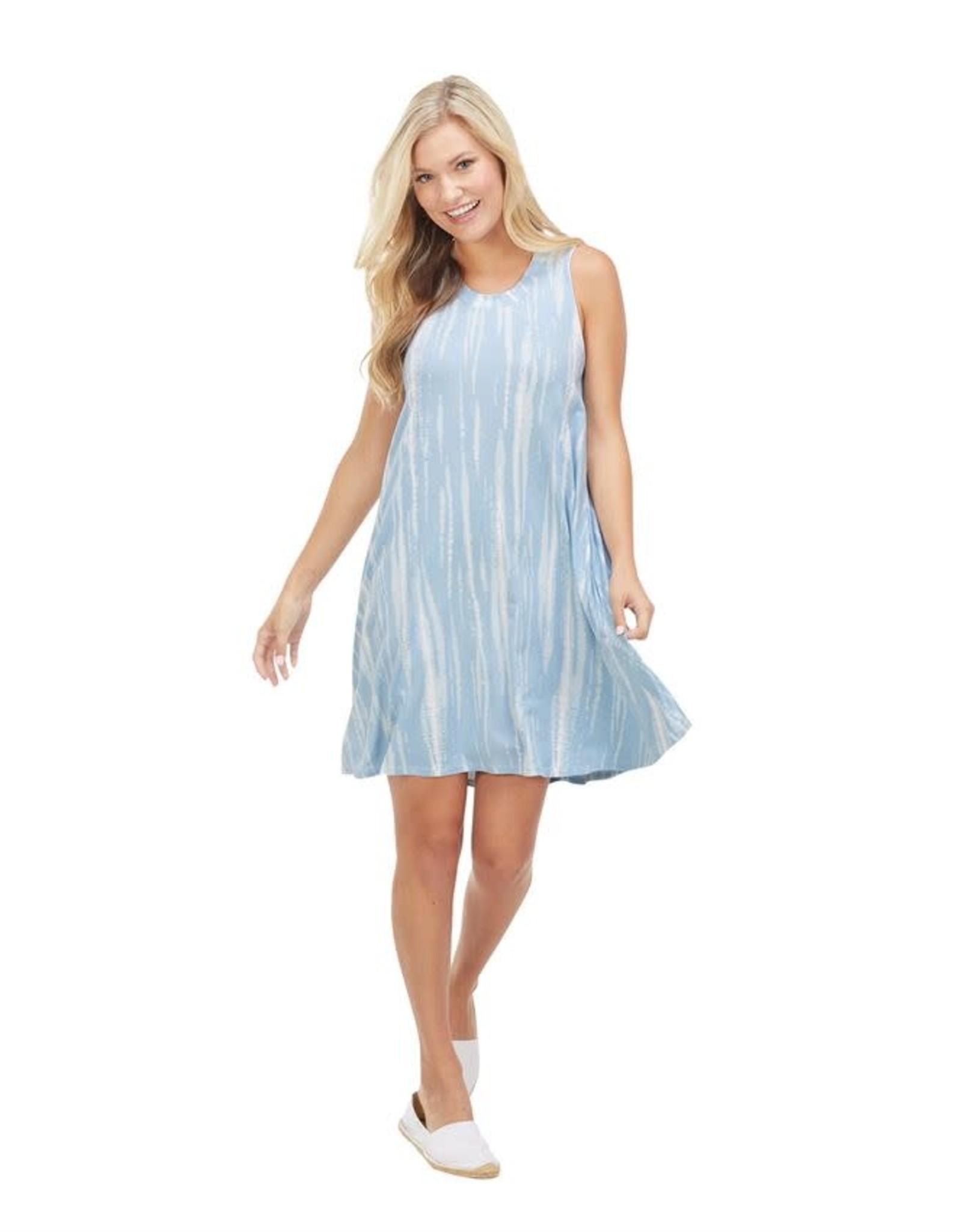 Mudpie Maya Swing Dress in Blue Tie Dye