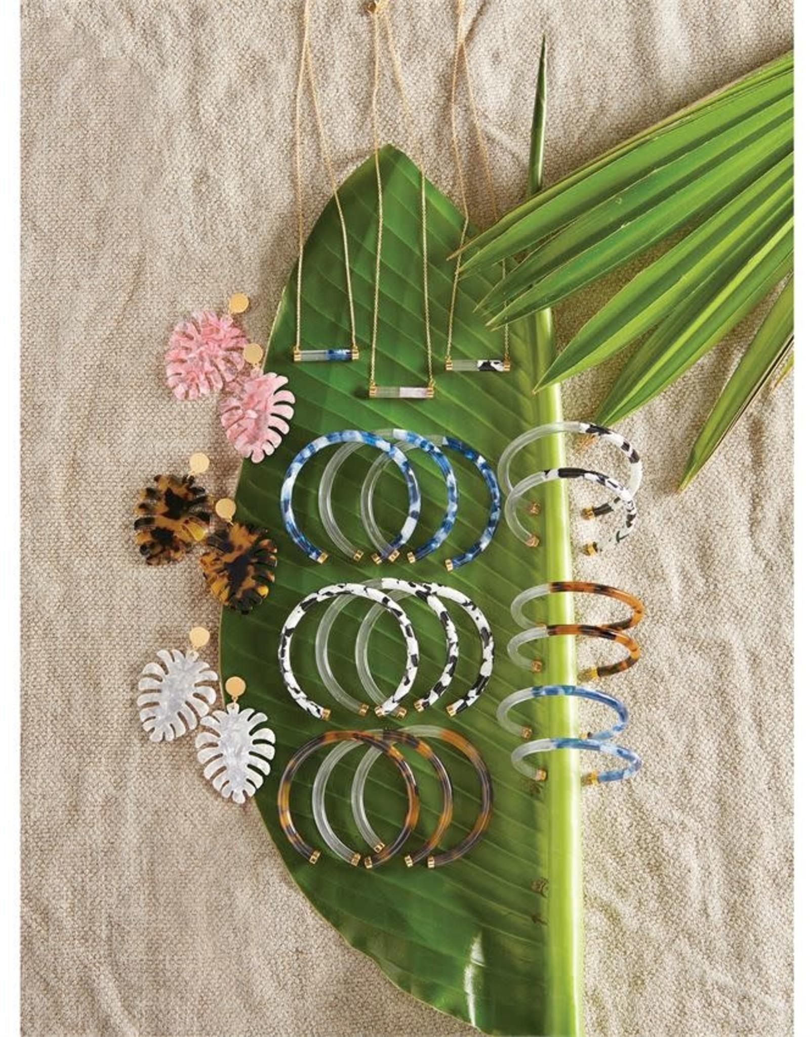Mudpie Resin Leaf Earrings