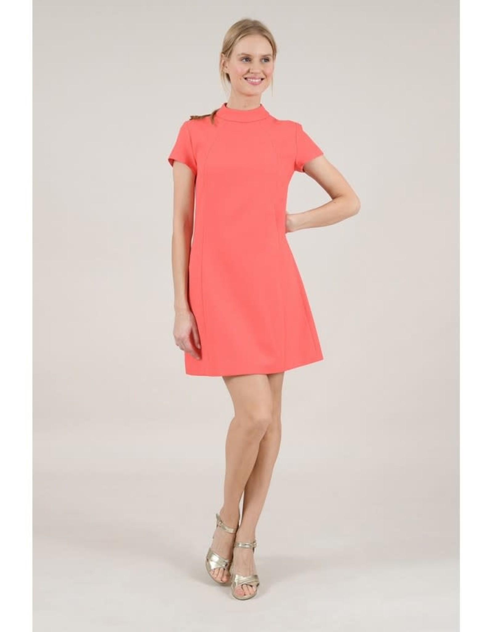 Molly Bracken Coral Mod Shift Dress