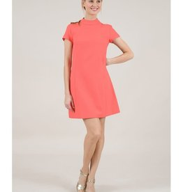 Molly Bracken Coral Mod Shift Dress