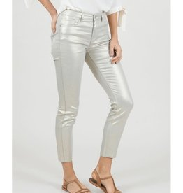 Molly Bracken Metallic Gold Jeans