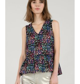 Molly Bracken Black Confetti Top