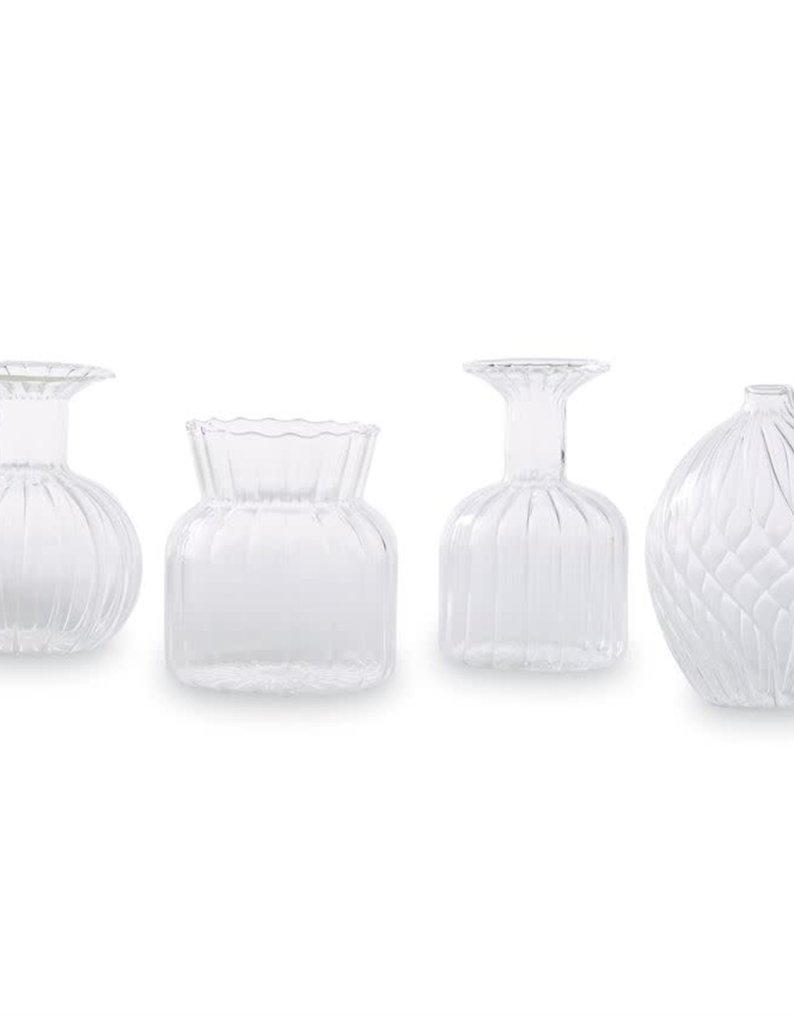 Mudpie Small Fluted Glass Vase