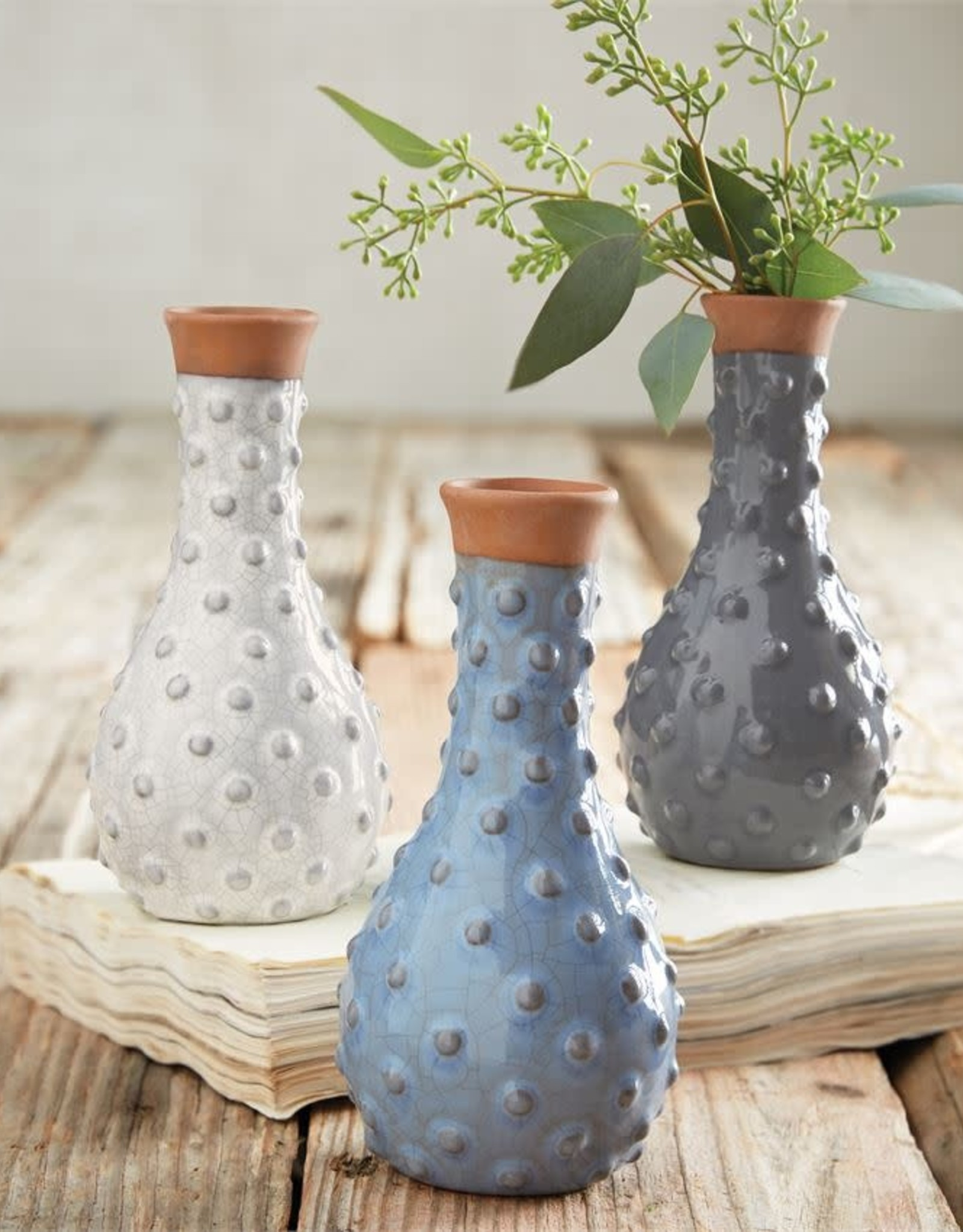 Mudpie Small Dotted Ceramic Vase