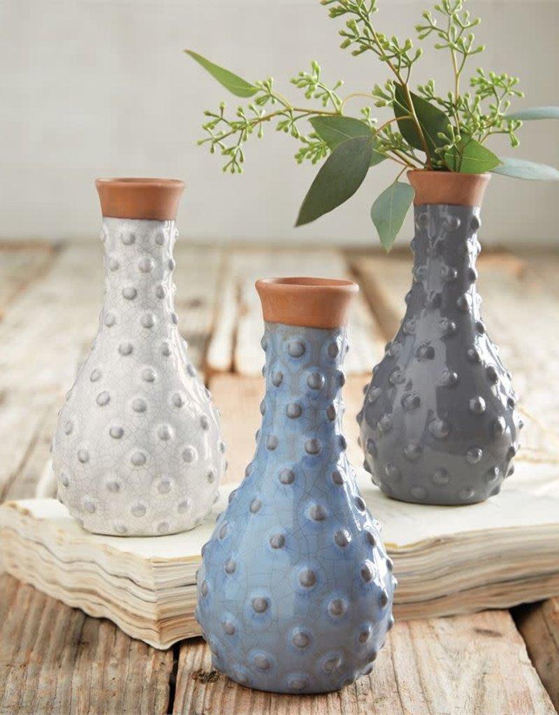 Mudpie Small Dotted Ceramic Vase