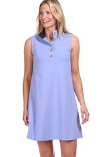 Duffield Lane Kingston Lavender Sleeveless Dress with Gold Buttons