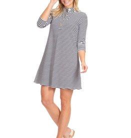 Duffield Lane Kingsley 3/4 Sleeve Striped Knit Dress