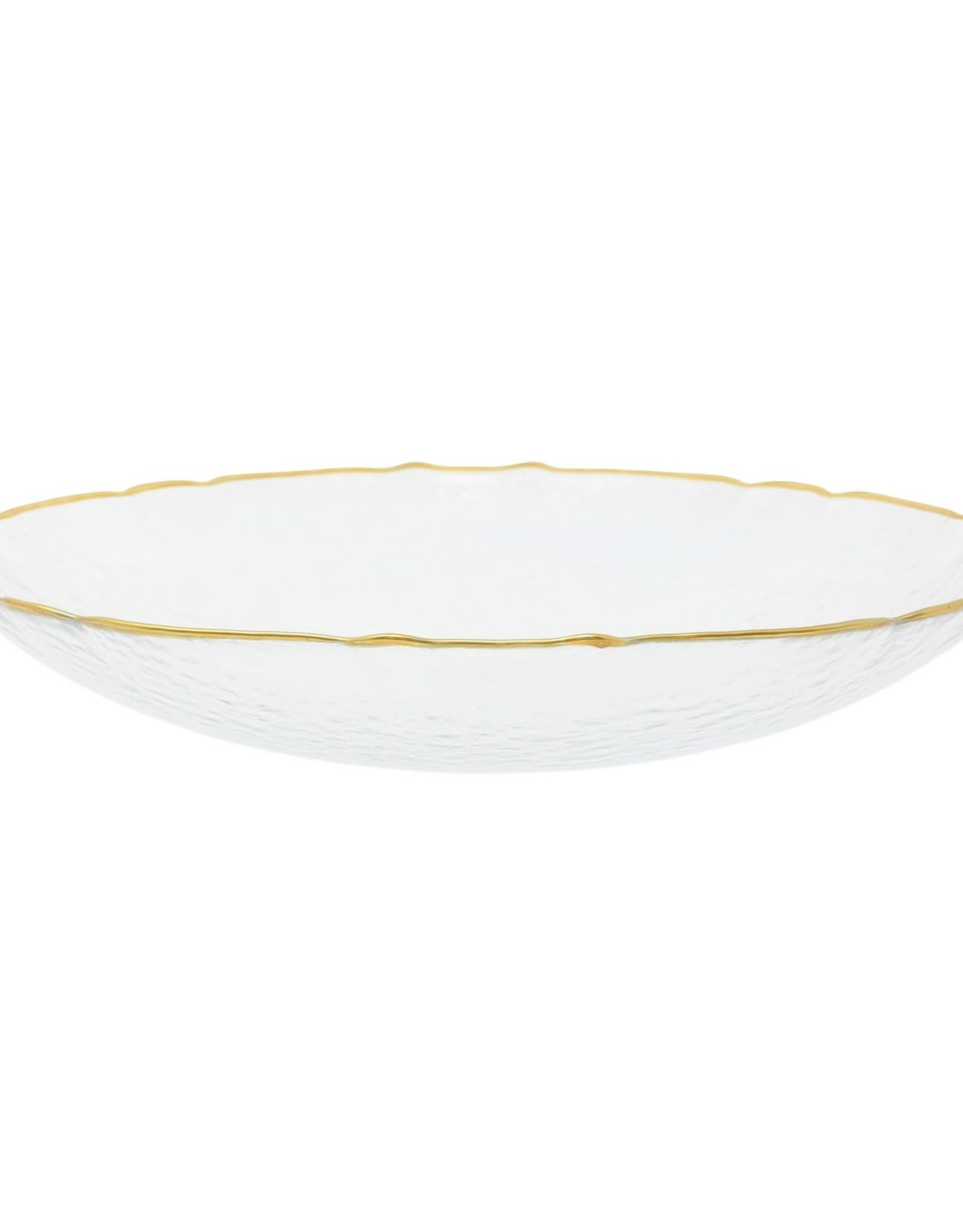 Vietri Clear Baroque Glass Medium Bowl