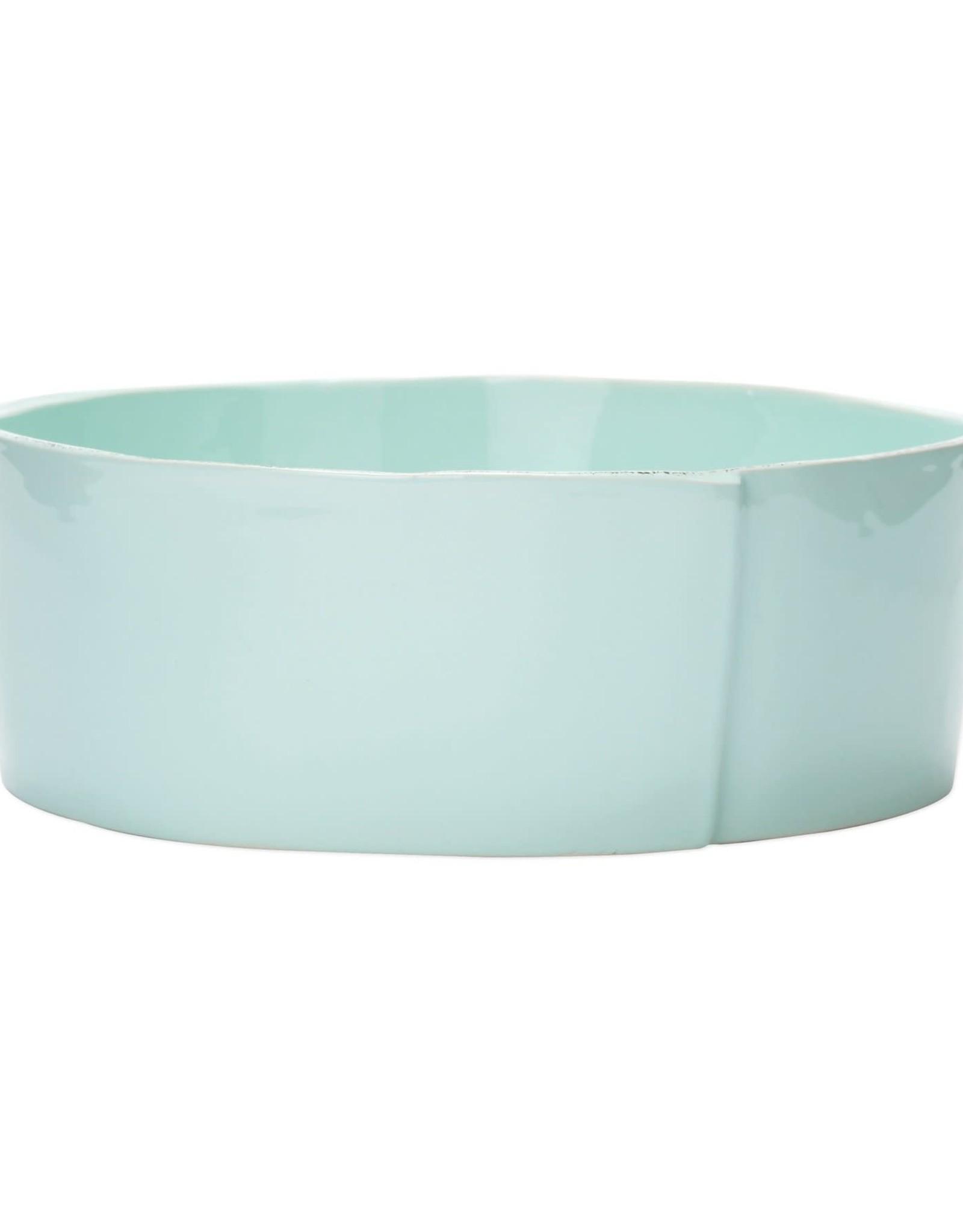 Vietri Lastra Large Serving Bowl Aqua