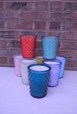 Simpactio Hobnail Glass Candle
