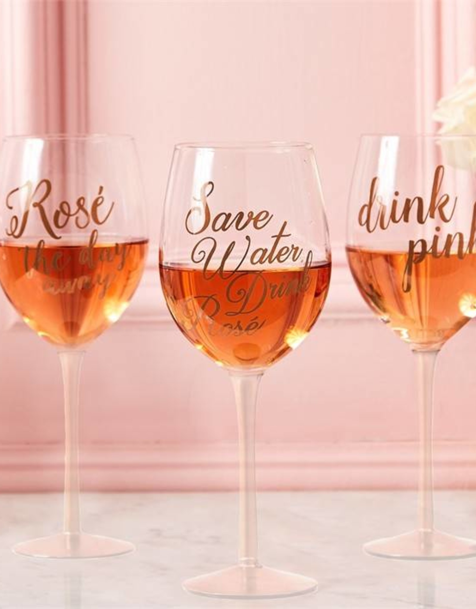 Two's Company Rosé Wine Glass