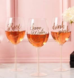 Two's Company Rosé Wine Glass