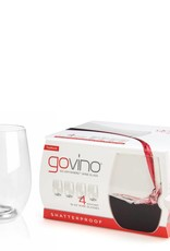 Go Vino 16 OZ Stemless Wine Glasses Set/4