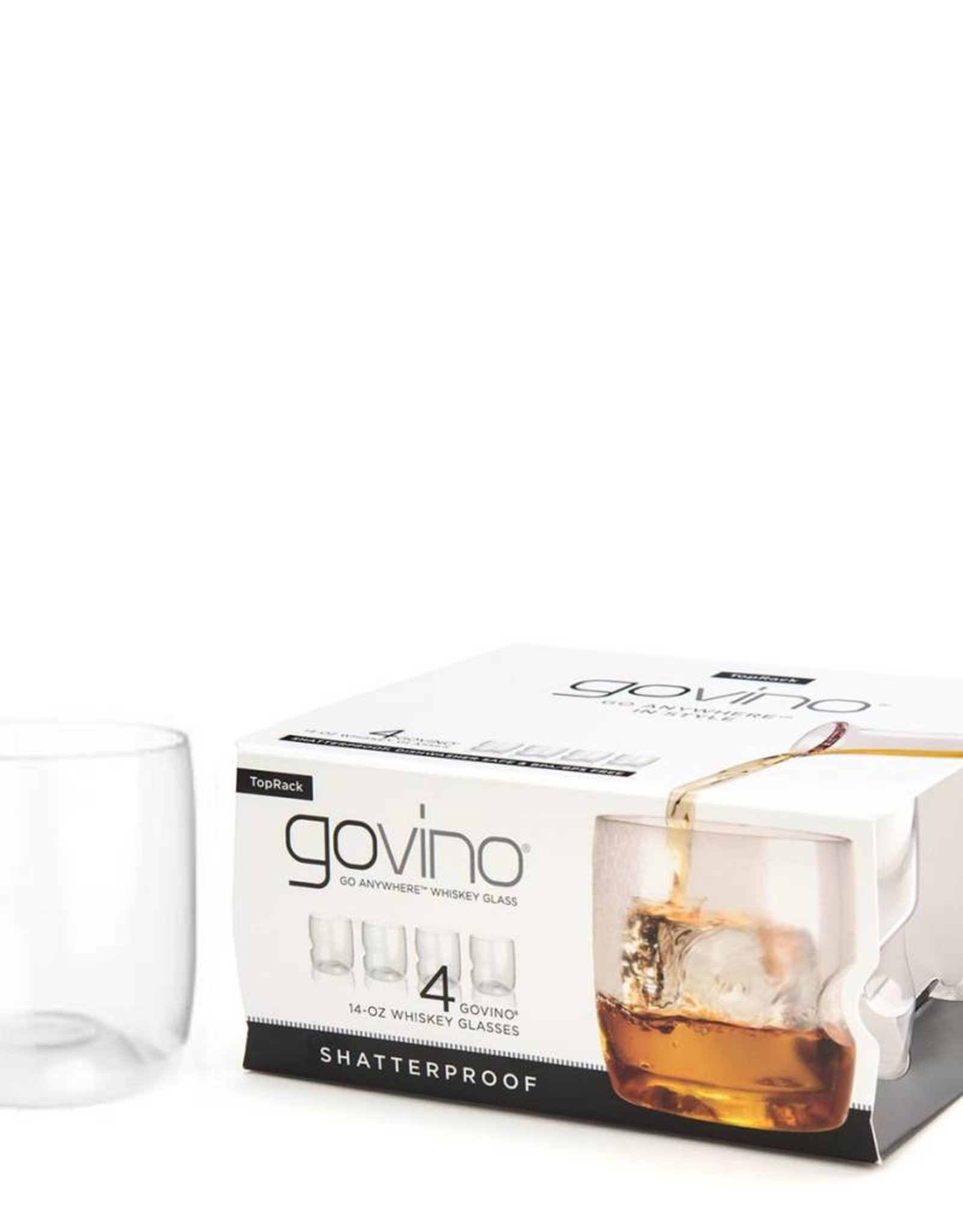 Go Vino 14 OZ Whiskey Glasses Set/4