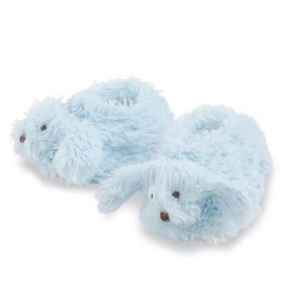 Mudpie Plush Puppy Booties Blue 0-12 MO
