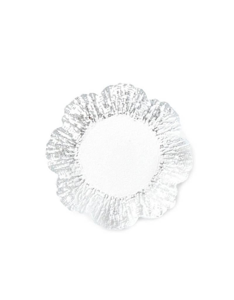 Vietri Rufolo Glass Platinum Canape Plate
